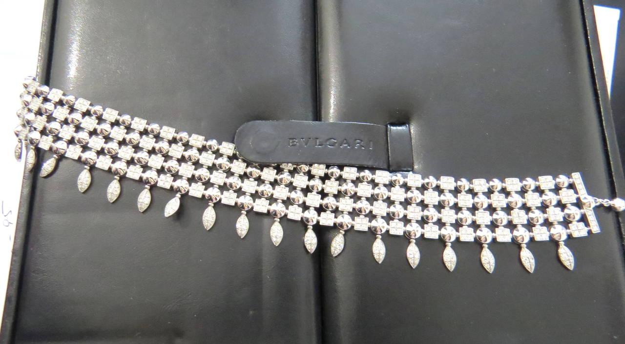 Gorgeous Bulgari Lucea Diamond Gold Choker Necklace For Sale 3