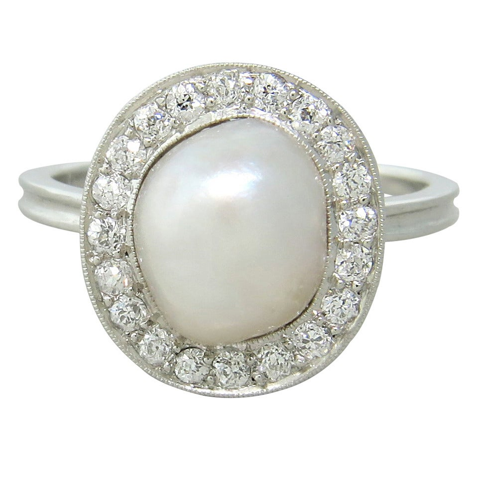 antique pearl platinum ring at 1stdibs