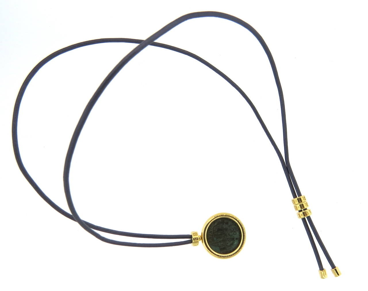 bulgari monete gold bronze ancient coin necklace 2