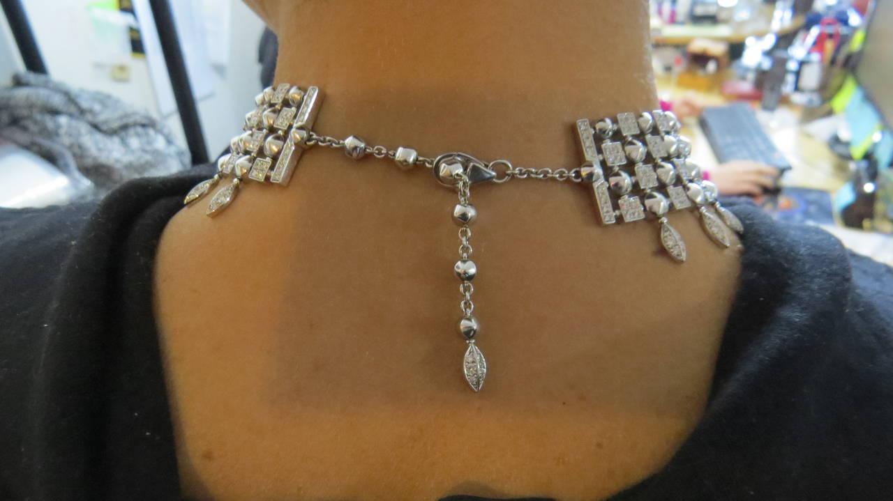 Gorgeous Bulgari Lucea Diamond Gold Choker Necklace For Sale 5