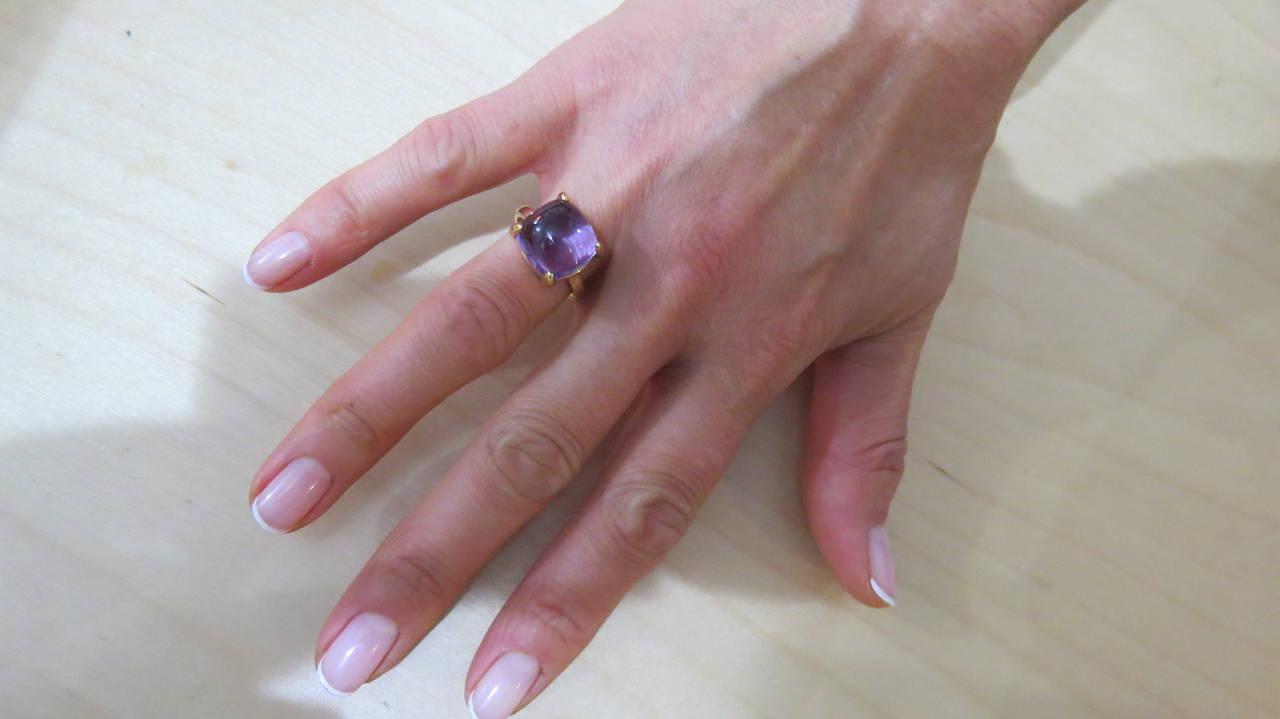 b30bc9b2e Tiffany & Co. Paloma Picasso Sugar Stacks Amethyst Gold Ring For Sale 2