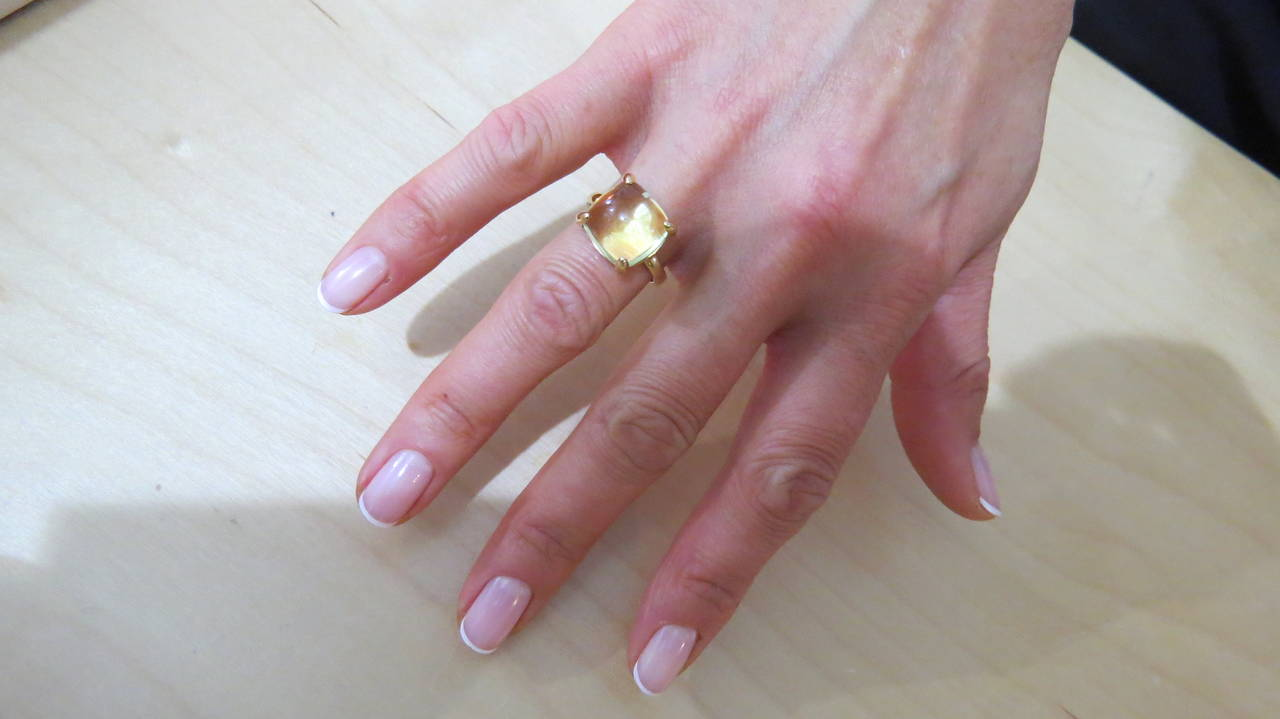 21d882977 Tiffany & Co. Paloma Picasso Sugar Stacks Lemon Citrine Gold Ring For Sale 1