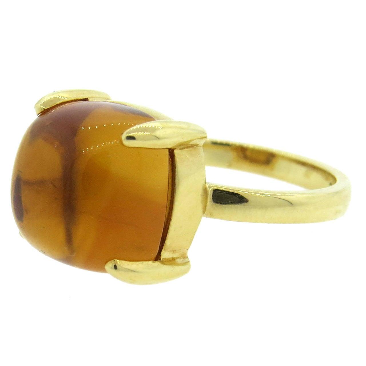 b901128b8 Tiffany and Co. Paloma Picasso Sugar Stacks Citrine Gold Ring at 1stdibs