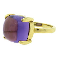 Tiffany & Co. Paloma Picasso Sugar Stacks Amethyst Gold Ring
