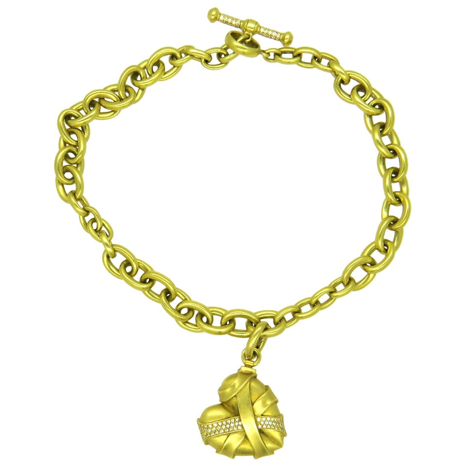 kieselstein cord gold toggle necklace with