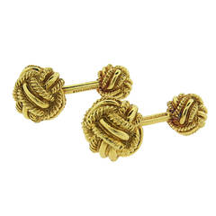 Tiffany & Co. Jean Schlumberger Gold Large Knot Cufflinks