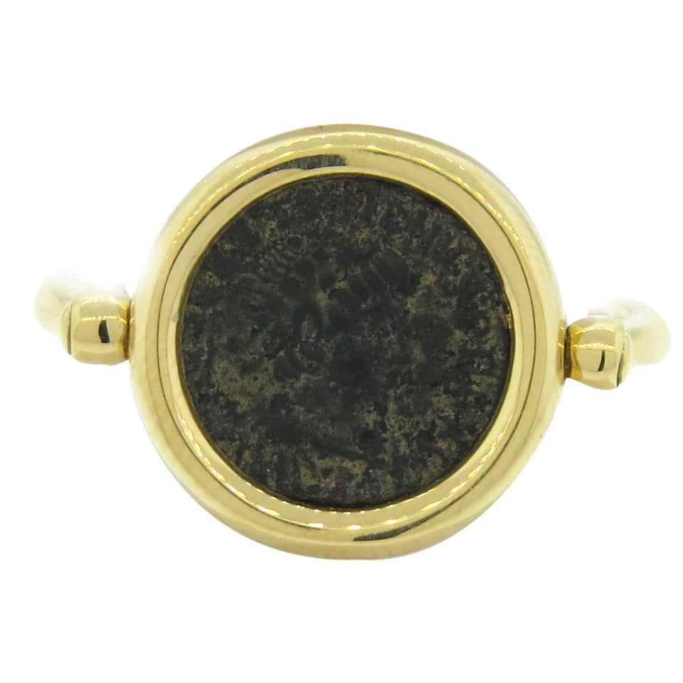 bulgari monete gold ancient coin ring for sale at 1stdibs