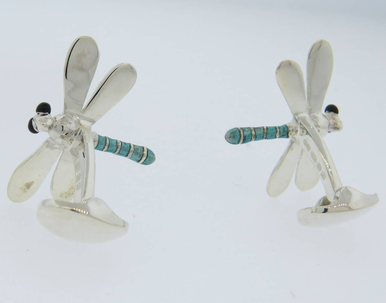 Deakin And Francis Enamel Sterling Silver Dragonfly