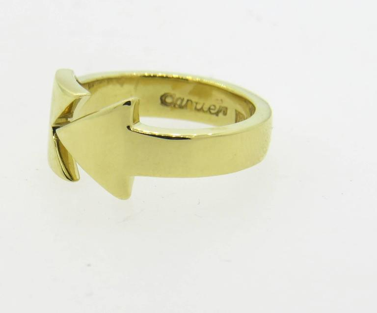 Cartier Gold Arrow Ring at 1stdibs