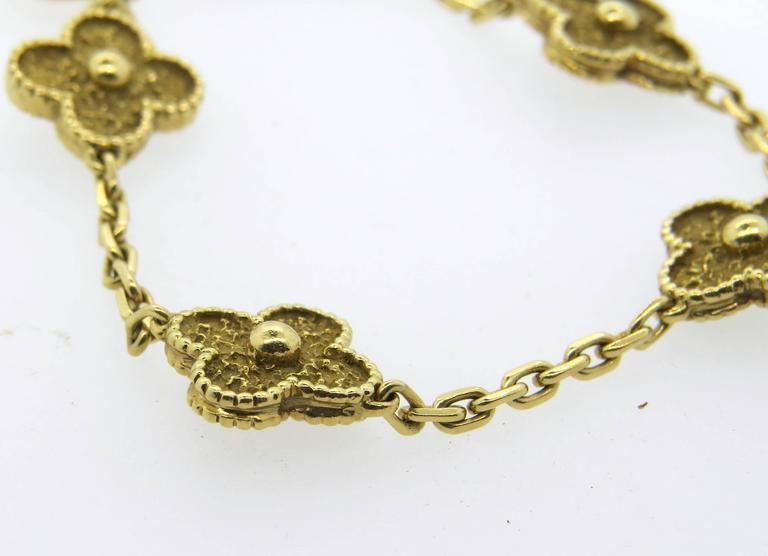 Van Cleef & Arpels Vintage Alhambra Gold Bracelet  3