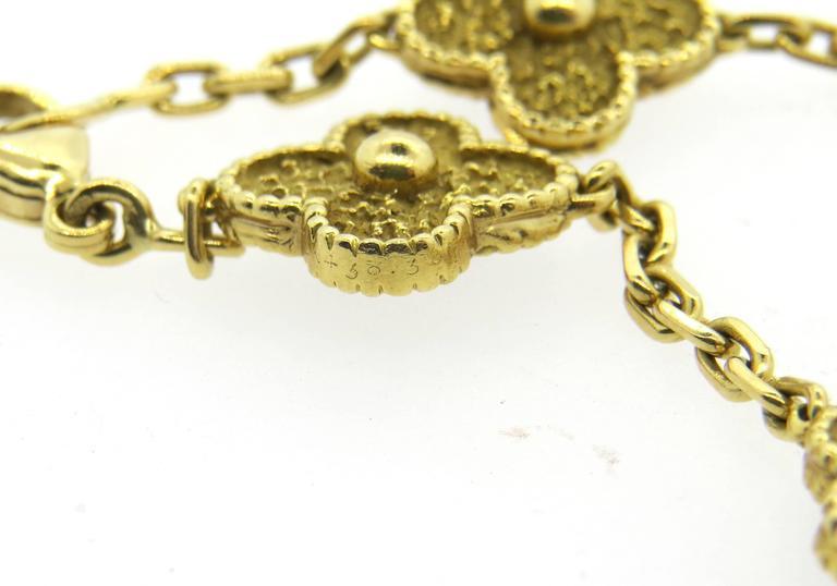 Van Cleef & Arpels Vintage Alhambra Gold Bracelet  2