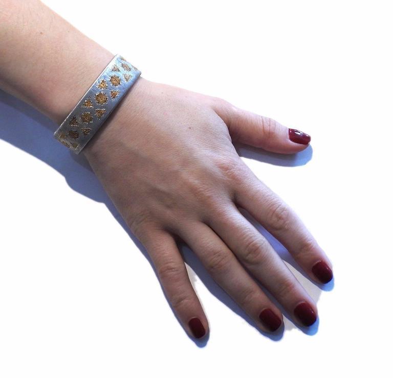 Buccellati Gold Sterling Silver Cuff Bracelet For Sale 2