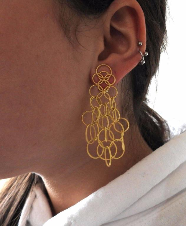 Buccellati Hawaii Yellow Gold Pendant Earrings In Excellent Condition For Lahaska Pa