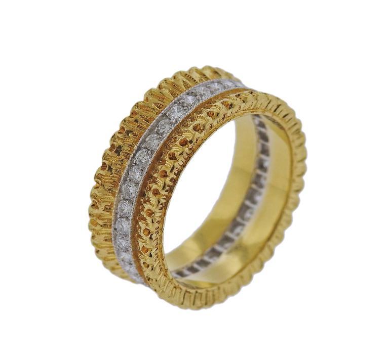 Buccellati Eternelle Gold Diamond Wedding Band Ring 4