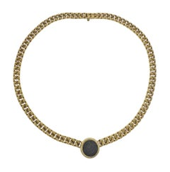 Bulgari Monete Ancient Coin Gold Necklace