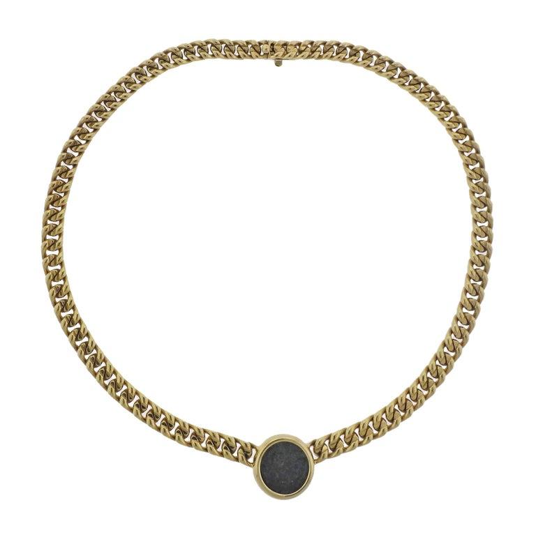 Bulgari Monete Ancient Coin Gold Necklace