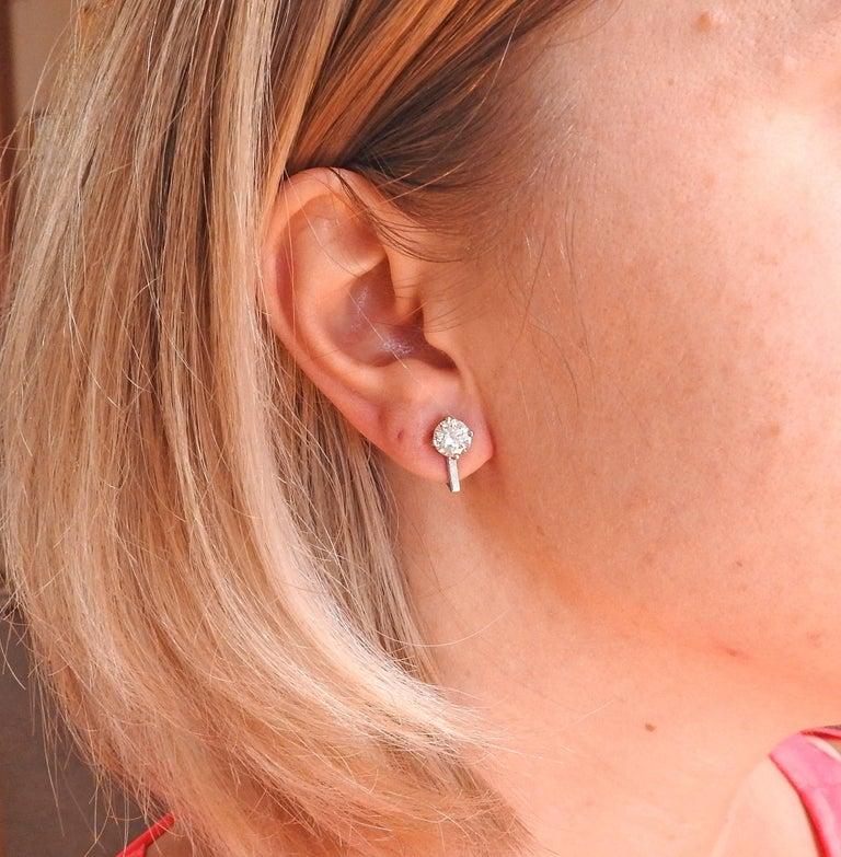 TIFFANY & CO  2.44ctw F VVS2 Diamond Stud Earrings 4