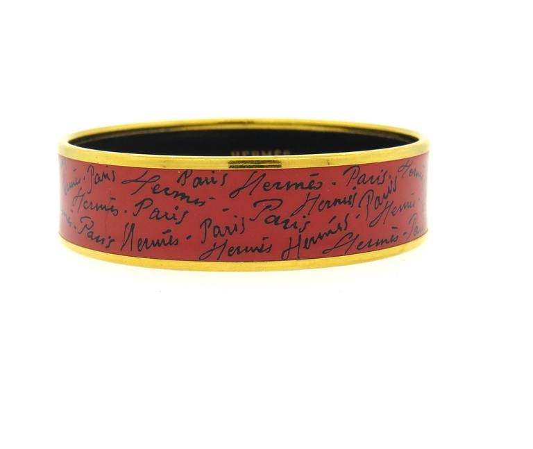 Hermes Paris Enamel Bangle Bracelet  2