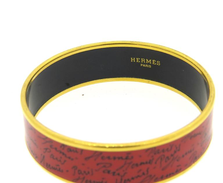 Hermes Paris Enamel Bangle Bracelet  4