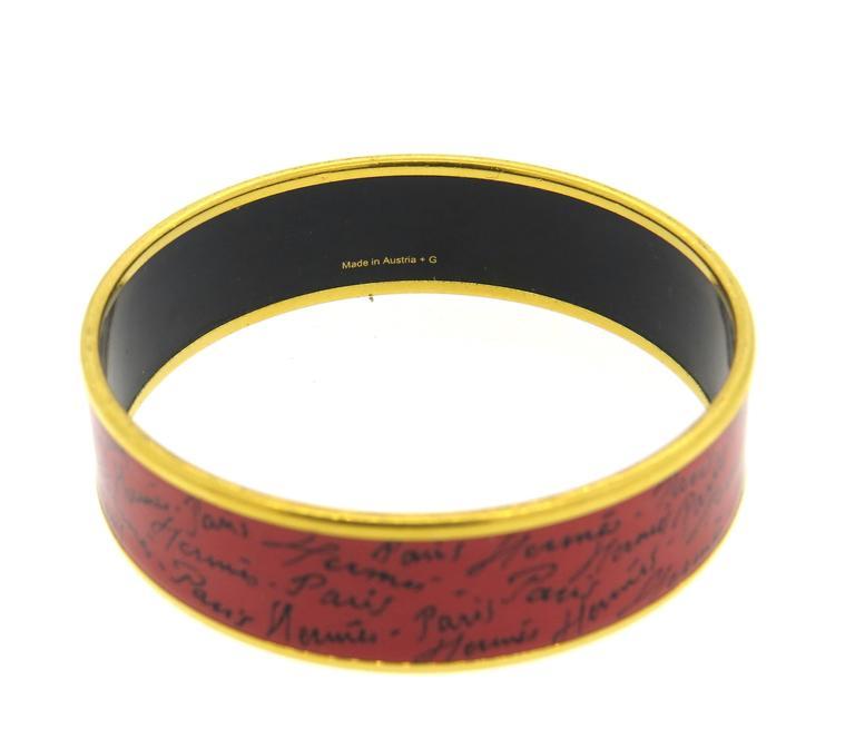 Hermes Paris Enamel Bangle Bracelet  3