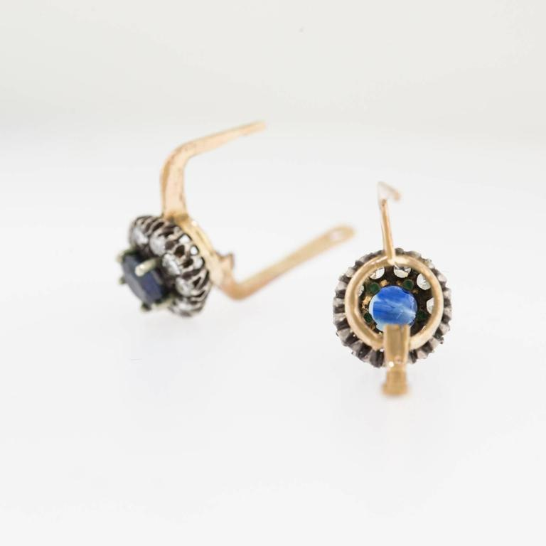 antique sapphire silver gold earrings at 1stdibs
