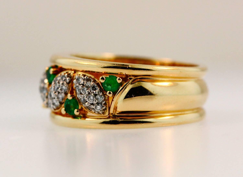 birks emerald gold platinum gold ring for sale at