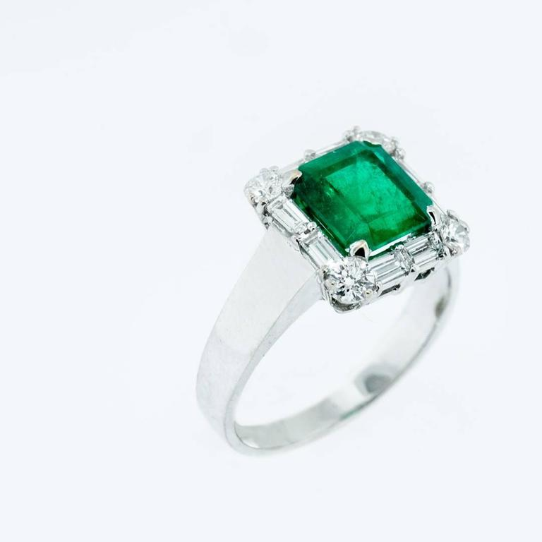 classic 2 74 carat emerald gold ring at 1stdibs
