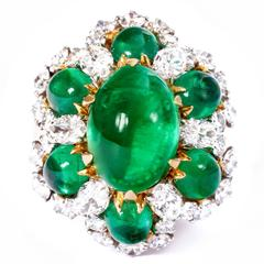 Bulgari Colombian Emerald Diamond Gold