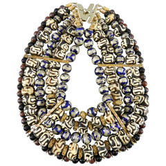 Tony Duquette 1999 Necklace in Box - Antique African and Chinese Beads