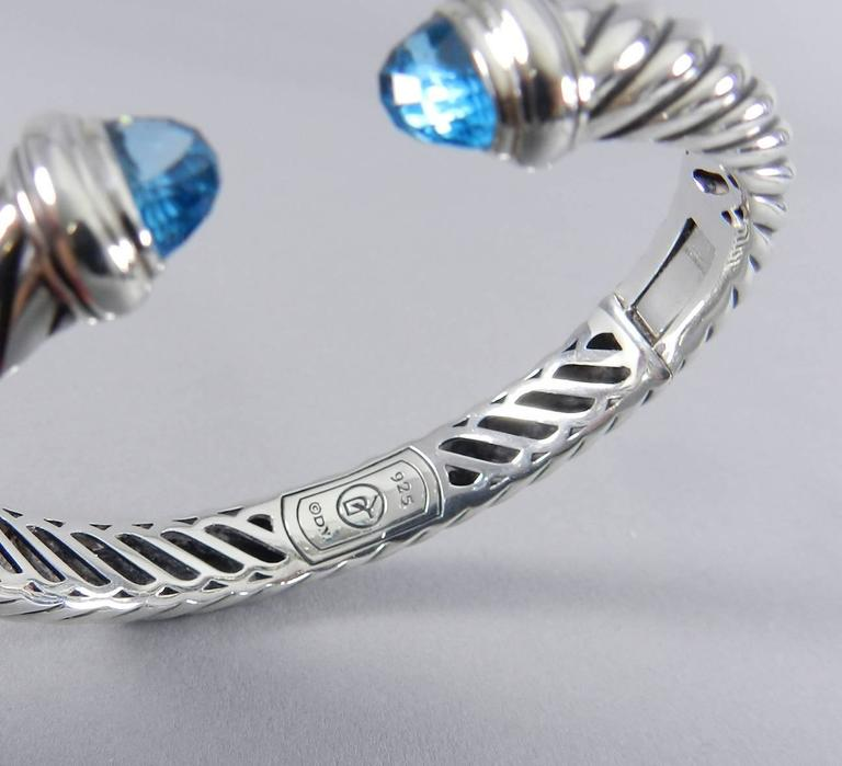 david yurman waverly blue topaz sterling silver cuff