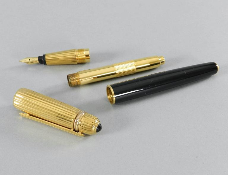 Pasha de Cartier Fountain Pen with Inkwell dated 1989 For Sale 5