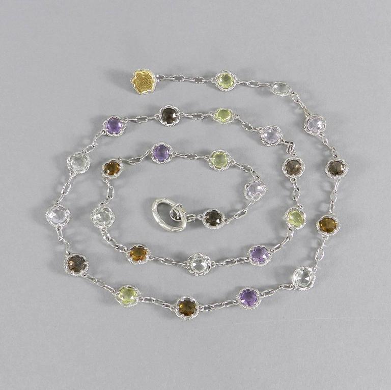 Tacori Color Medley Gum Drop Necklace For Sale 4