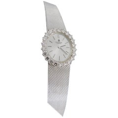 Universal Geneve Ladies White Gold Diamond Manual Wristwatch