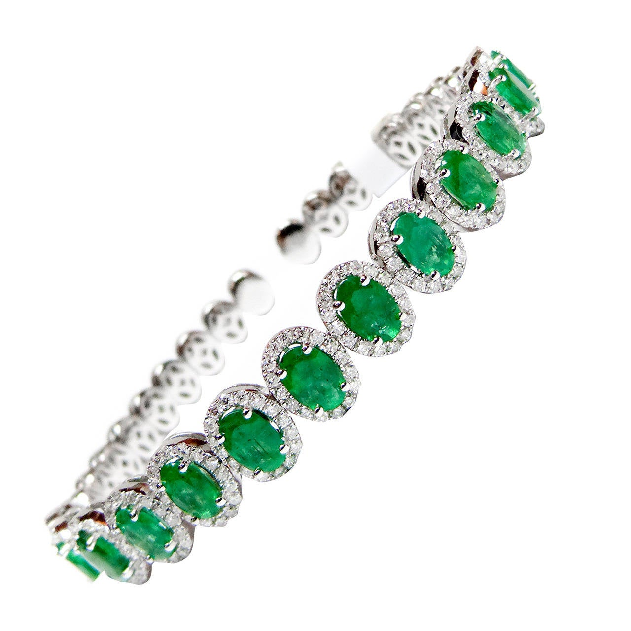 Emerald Diamond Gold Cuff 1