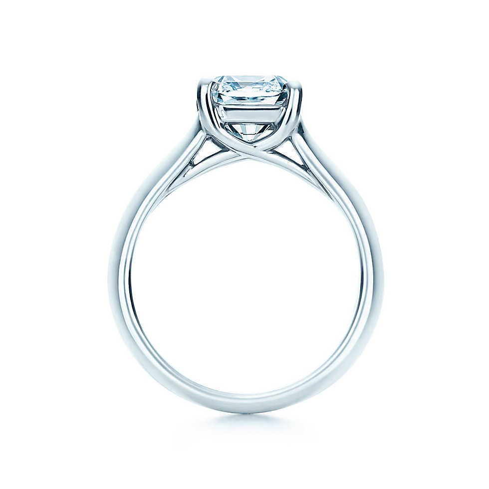 Tiffany & Co. Lucida Cut Diamond Platinum Ring 2