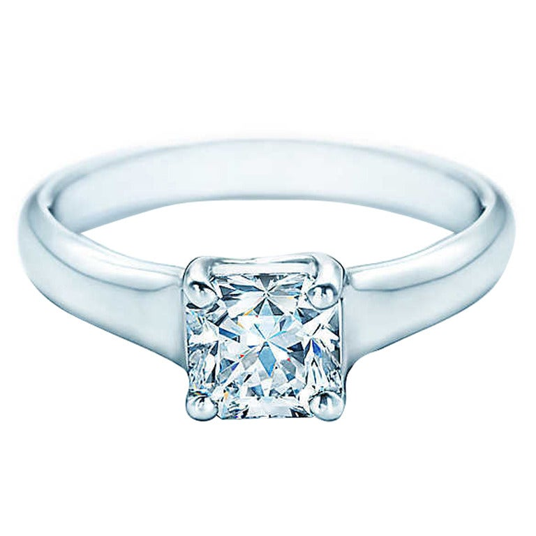 Lucida Bands: Tiffany And Co. Lucida Cut Diamond Platinum Ring At 1stdibs