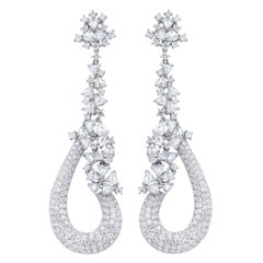 10.18 Carat Rose Cut Diamond Earrings
