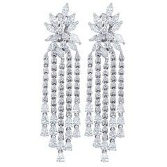Chandelier Cluster Diamond Earrings