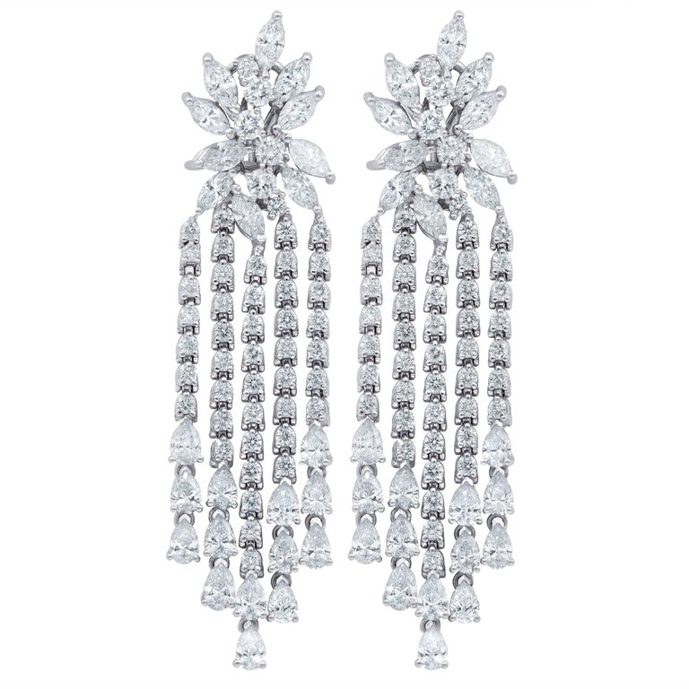 Chandelier Cluster Diamond Earrings