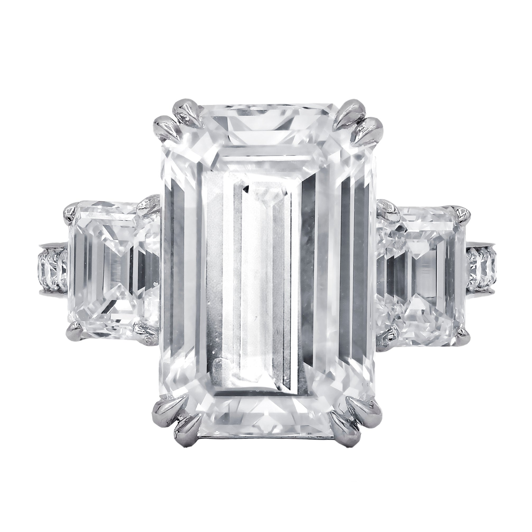 GIA Certified 9.38 Carat Emerald Cut Diamond Ring