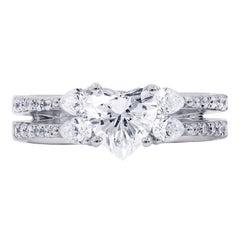 Certified 1.66 Carat Heart Shape Diamond Ring