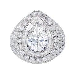 Gia Certified 10.02 Carat TDW Diamond Cocktail Ring
