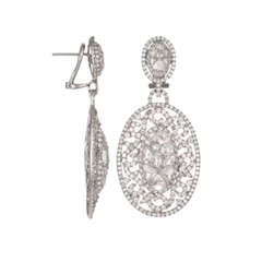 Embellished Diamond Earrings