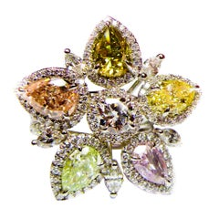 Diana M. Magnificent Diamond Flower Ring