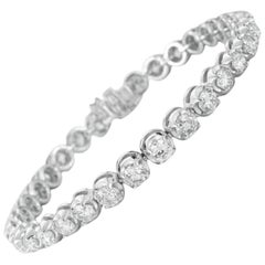 Remarkable 5.00 Carat Diamond White Gold Tennis Bracelet