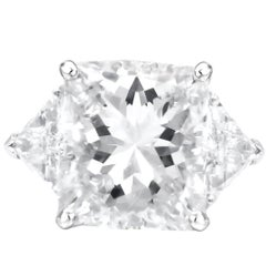 GIA Certified 13.73 Carat Radiant Cut Diamond Ring