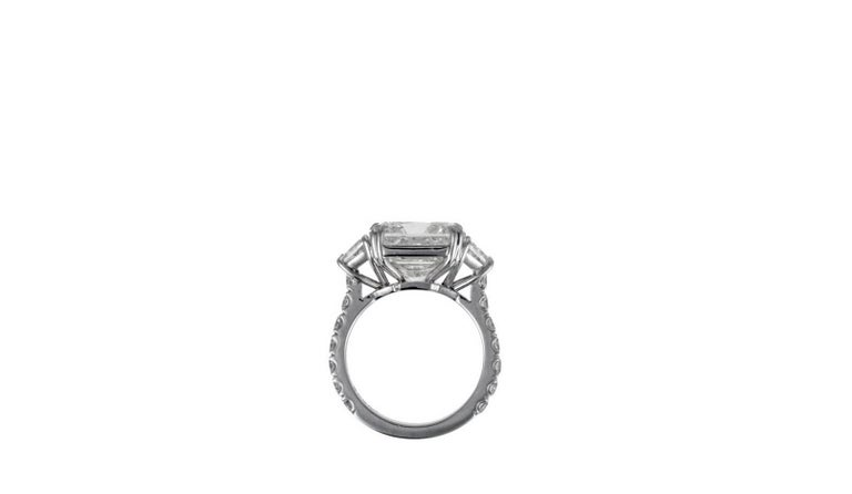Women's Magnificent 10.08 Radiant Cut Diamond Ring For Sale