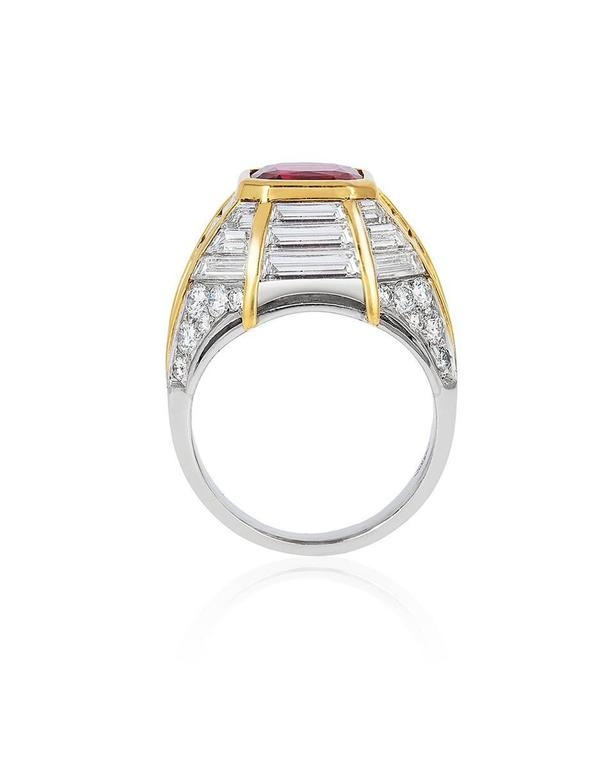 Retro Ruby Diamond Gold Cocktail Ring 3