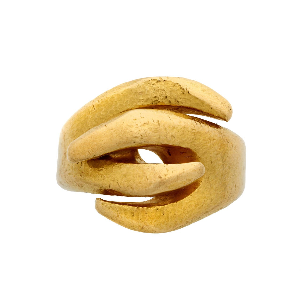 Lalaounis Textured 22K Yellow Gold Ring