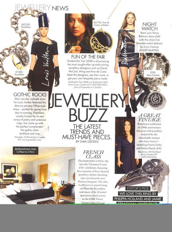 Ana De Costa Gold Tsavorite Onyx Diamond Pendant In As new Condition For Sale In London, GB